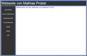 Mathias Probst homepage